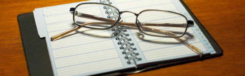 Glasses On Calendar